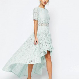 Zierlich Weißes Kleid Asos Image 1 Of ASOS SALON Lace Dip Back Prom Midi Dress | MOH | Pinterest