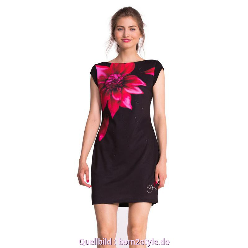 Typisch Desigual Kleid Flower Desigual Isla Dress Black M - Born2Style Fashion Store
