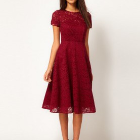 Gewöhnliche Spitze Kleider Midi Midi Dress In Lace- $79 Great Color! Elegant & Modest-Love It