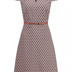 Interessant Comma Kleid Polka Dots Comma Jumpers For Sale, Comma, Women Dresses Summer Dress - Brown