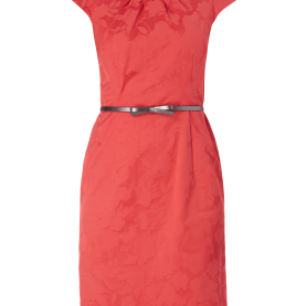 Prämie Comma Rotes Kleid COMMA Kleid Mit Floralem Muster In Rot Online Kaufen (9595119