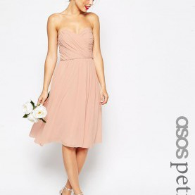 Schön Asos Umstandsmode Abendkleider Image 1 Of ASOS PETITE WEDDING Bandeau Midi Dress | WEDDING